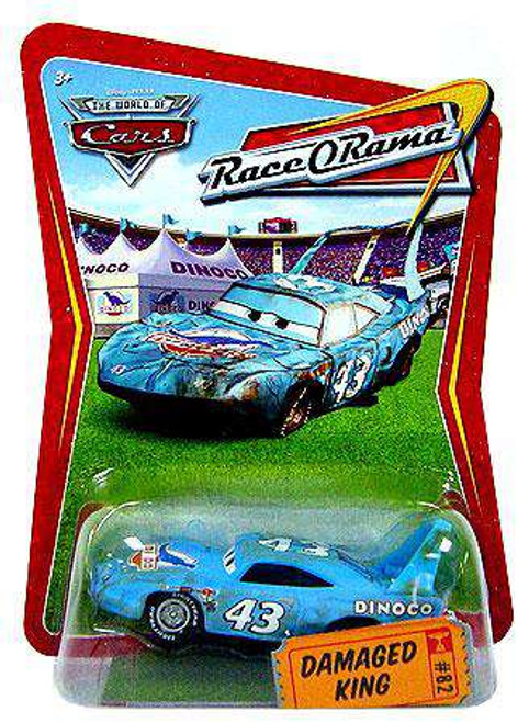Disney / Pixar Cars The World of Cars Race-O-Rama Damaged King Diecast Car #82