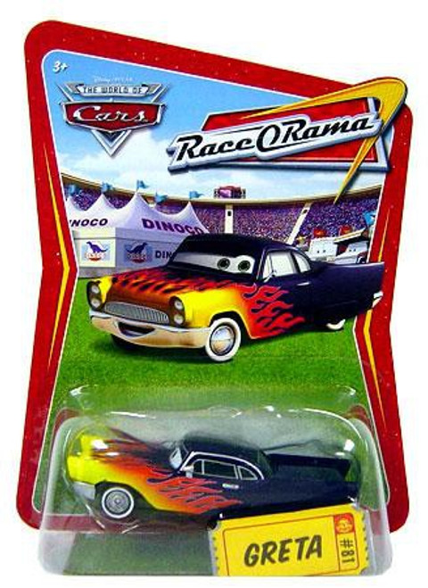 Disney / Pixar Cars The World of Cars Race-O-Rama Greta Diecast Car #81