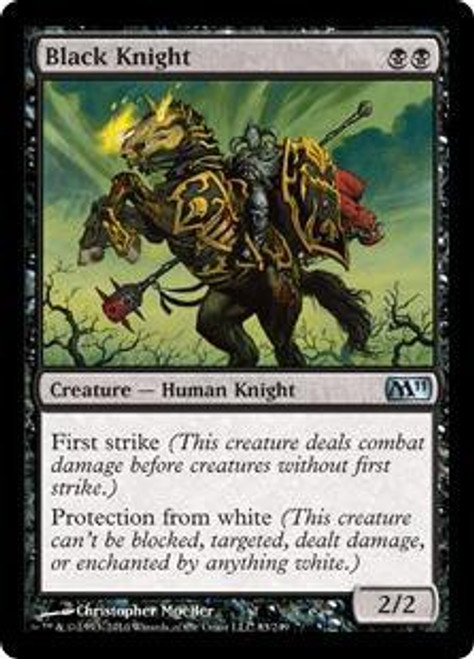 MtG 2011 Core Set Uncommon Black Knight #83