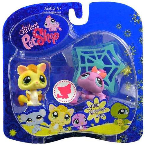 Littlest Pet Shop 2009 Assortment B Series 3 Sugar Glider & Spider Figure 2-Pack #990, 991