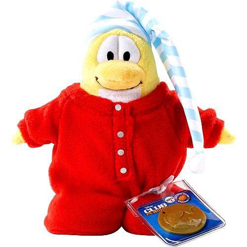 Club Penguin Series 2 Red Pajamas 6.5-Inch Plush Figure [Version 1]