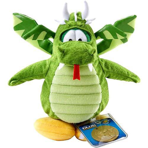 Club Penguin Series 2 Green Dragon 6.5-Inch Plush Figure [Version 1]