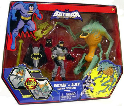 The Brave and the Bold Batman Vs. Alien Clash in the Cosmos Action Figure Set