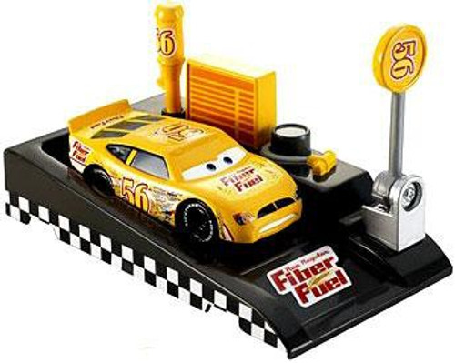 Disney / Pixar Cars Pit Row Race-Off Fiber Fuel No. 56 Diecast Car [Includes Launcher]