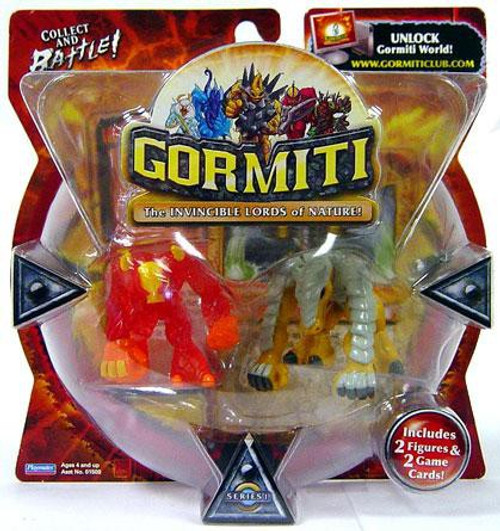 Gormiti Series 1 Fiery Hammer & Earthshaker Mini Figure 2-Pack [RANDOM Colors]