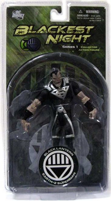 DC Green Lantern Blackest Night Series 1 Black Lantern Earth 2 Superman Action Figure