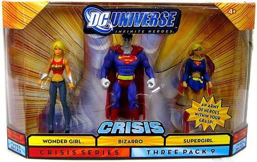 DC Universe Crisis Infinite Heroes Wonder Girl, Bizarro & Supergirl Action Figures #9