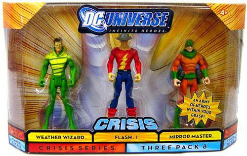 DC Universe Crisis Infinite Heroes Weather Wizard, Flash I & Mirror Master Action Figures #8