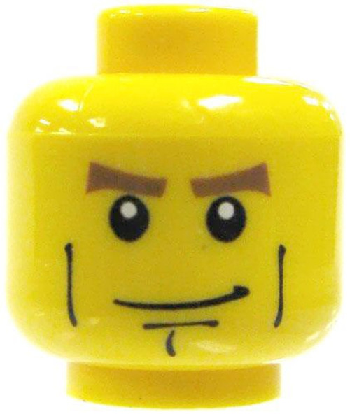 Hero Chin Minifigure Head [Yellow Loose]