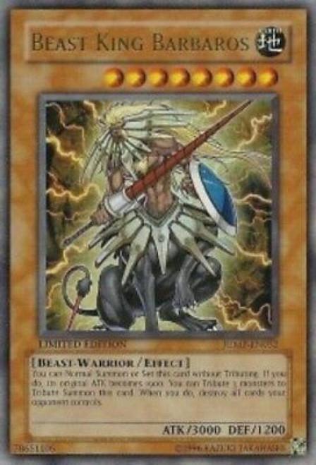 YuGiOh Shonen Jump Ultra Rare Beast King Barbaros JUMP-EN032