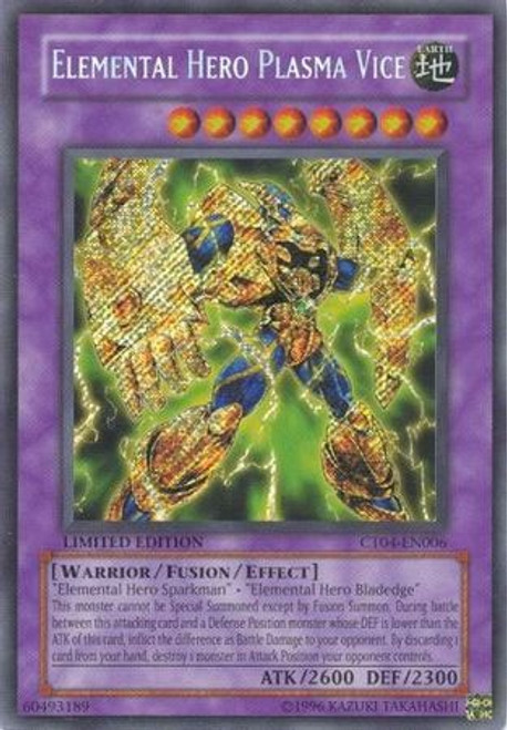YuGiOh 2007 Collector Tin Secret Rare Elemental Hero Plasma Vice CT04-EN006