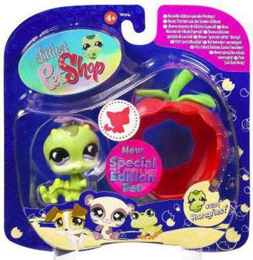 Littlest Pet Shop 2009 Assortment B Series 1 Inchworm Figure #829 [Apple]