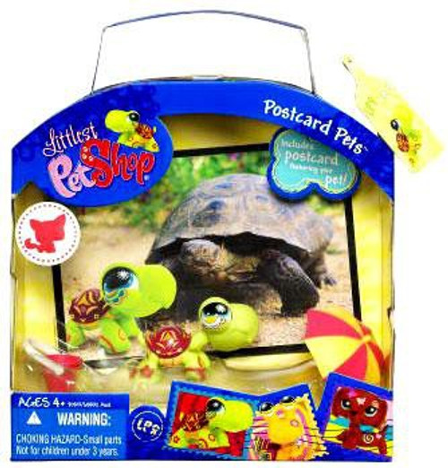 Littlest Pet Shop Postcard Pets Series 2 Turtle Figure