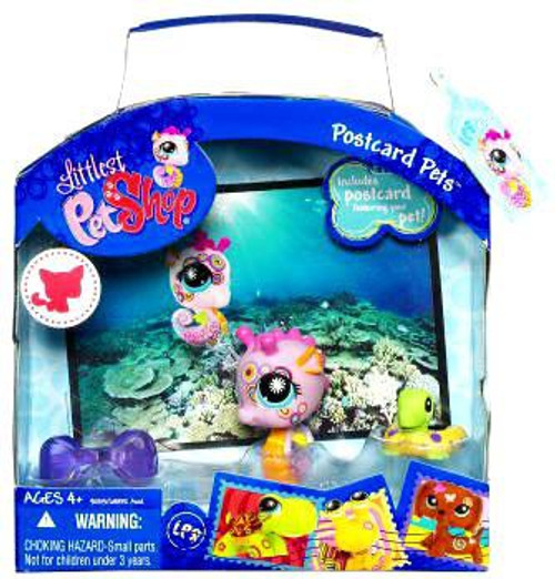 Littlest Pet Shop Postcard Pets Series 2 Seahorse Figure