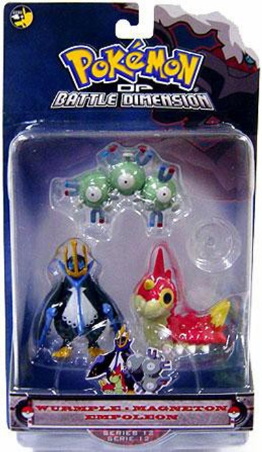 Pokemon Diamond & Pearl Series 12 Wurmple, Magneton & Empoleon Figure 3-Pack