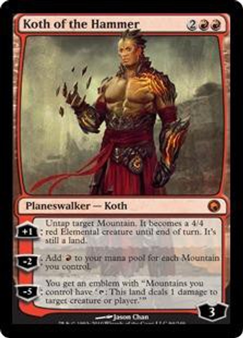 MtG Scars of Mirrodin Mythic Rare Koth of the Hammer #94