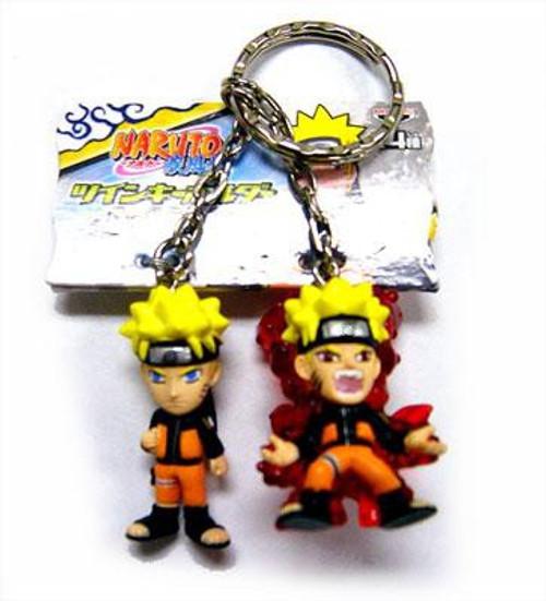 PVC Naruto & 9 Tailed Fox Naruto 1.5-Inch Keychain