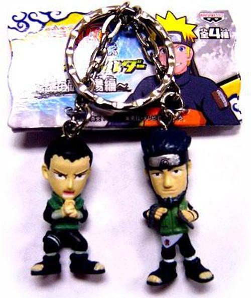 Naruto PVC Shikamaru & Asuma 1.5-Inch Keychain