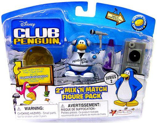 Club Penguin Mix 'N Match Series 11 Band Member with Turntable Mini Figure Set