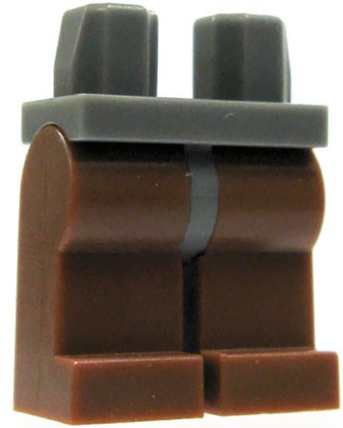 LEGO Dark Gray Hips with Brown Legs Loose Legs #4168950 [Loose]