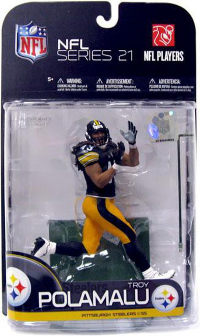 McFarlane Toys NFL Pittsburgh Steelers Sports Picks Series 21 Troy Polamalu Action Figure