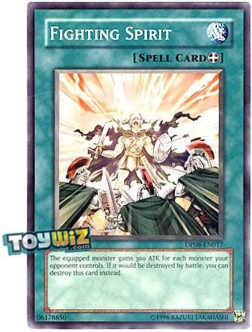 YuGiOh YuGiOh 5D's Duelist Pack Yusei Fudo Common Fighting Spirit DP08-EN017