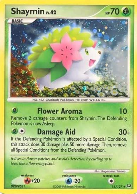 Pokemon Platinum Rare Holo Shaymin #14