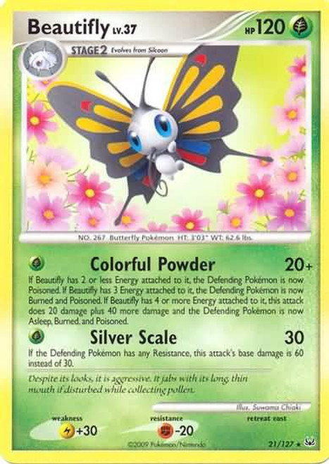 Pokemon Platinum Rare Beautifly #21