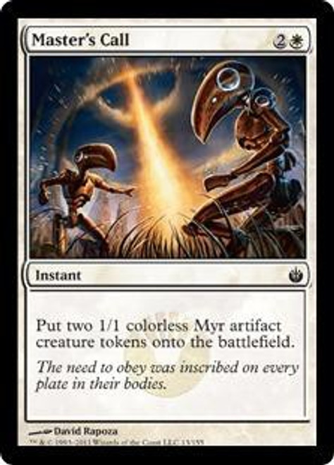 MtG Mirrodin Besieged Common Master's Call #13
