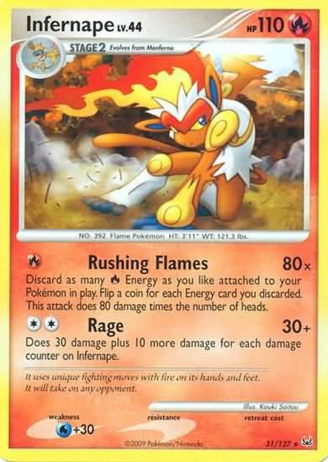 Pokemon Platinum Rare Infernape #31