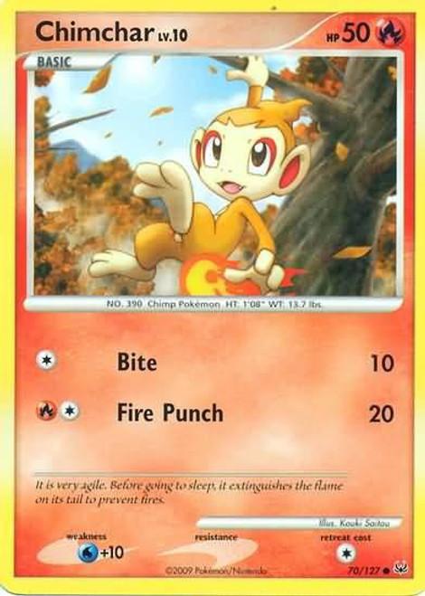 Pokemon Platinum Common Chimchar #70