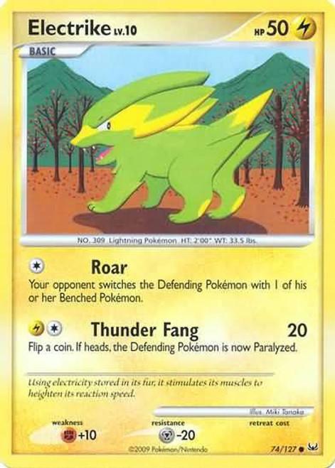 Pokemon Platinum Common Electrike #74