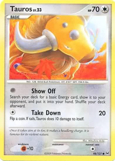 Pokemon Platinum Common Tauros #98