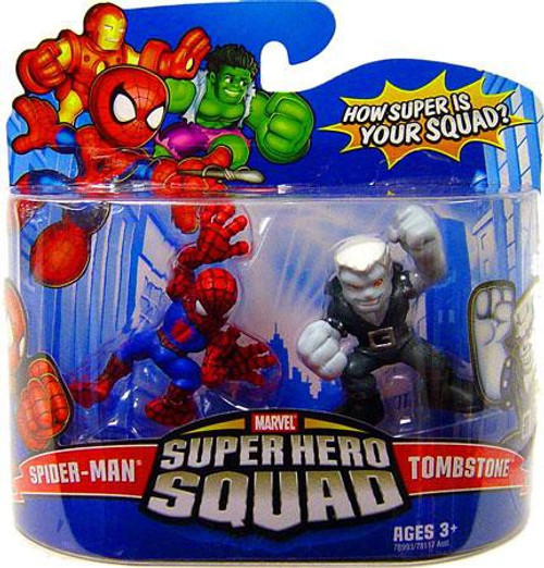 Marvel Super Hero Squad Series 12 Spider-Man & Tombstone 3-Inch Mini Figure 2-Pack