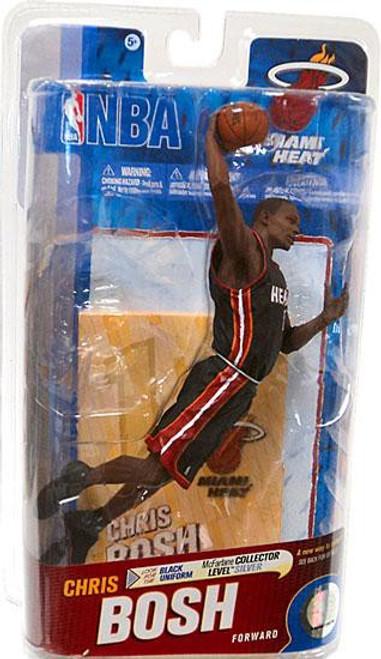 McFarlane Toys NBA Miami Heat Sports Picks Series 19 Chris Bosh Action Figure [Black Jersey]