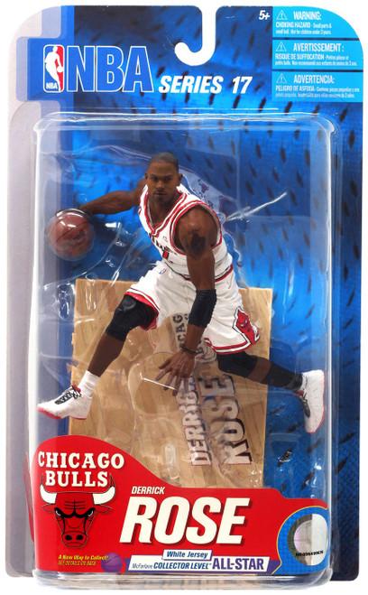 McFarlane Toys NBA Chicago Bulls Sports Picks Series 17 Derrick Rose Action Figure [White Jersey]