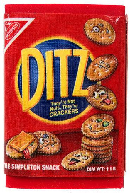 Wacky Packages Topps Ditz Crackers Single Eraser #7