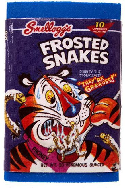 Wacky Packages Topps Frosted Snakes Single Eraser #10