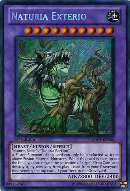 YuGiOh Hidden Arsenal 4: Trishula's Triumph Secret Rare Naturia Exterio HA04-EN055