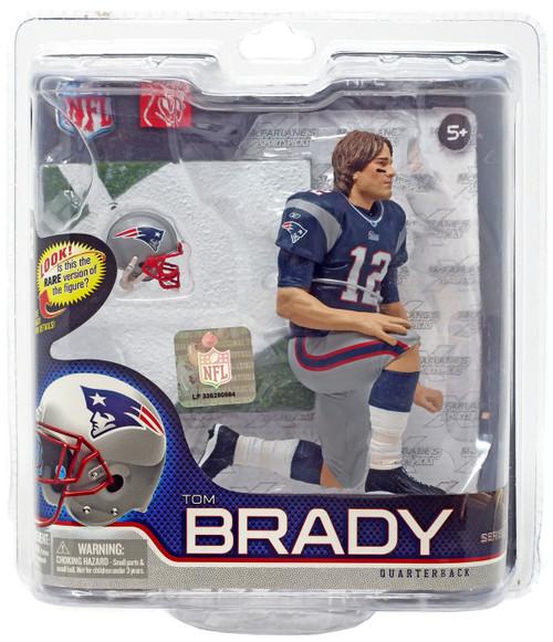 McFarlane Toys NFL New England Patriots Sports Picks Series 27 Tom Brady Action Figure [Blue Jersey & Long Hair]