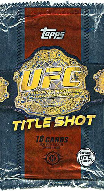 UFC Topps 2011 Title Shot Trading Card Pack