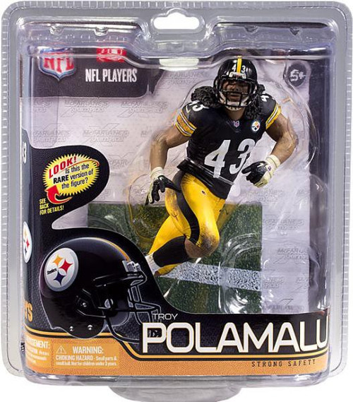 McFarlane Toys NFL Pittsburgh Steelers Sports Picks Series 29 Troy Polamalu Action Figure [Black Jersey]