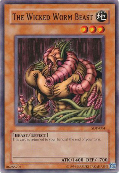 YuGiOh Starter Deck: Kaiba Common The Wicked Worm Beast SDK-004