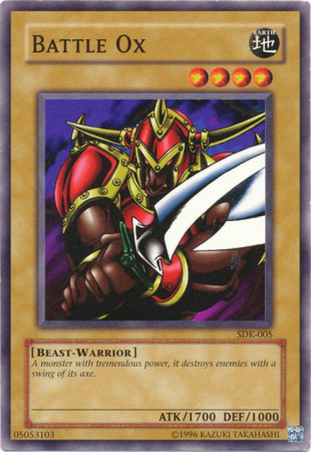 YuGiOh Starter Deck: Kaiba Common Battle Ox SDK-005