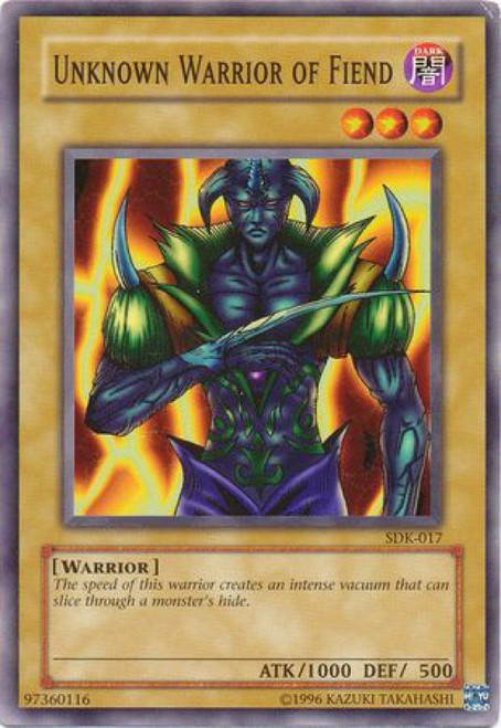 YuGiOh Starter Deck: Kaiba Common Unknown Warrior of Fiend SDK-017