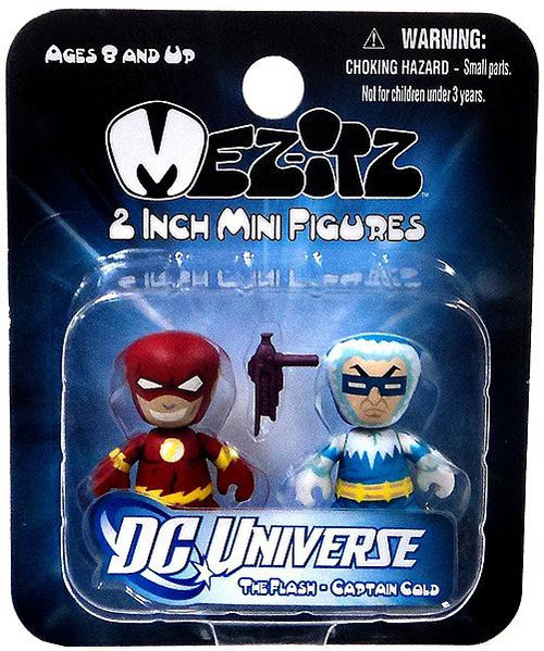 DC Mini Mez-Itz Series 2 The Flash & Captain Cold 2-Inch Vinyl Figure 2-Pack