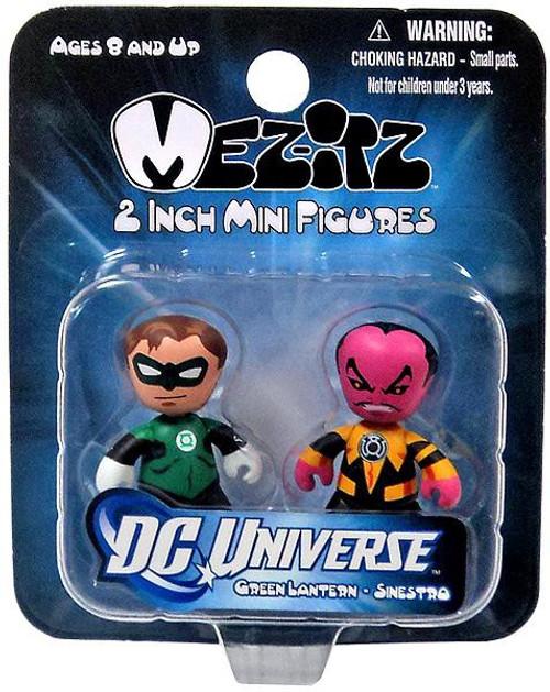 DC Green Lantern Mini Mez-Itz Series 1 Hal Jordan & Sinestro 2-Inch Vinyl Figure 2-Pack