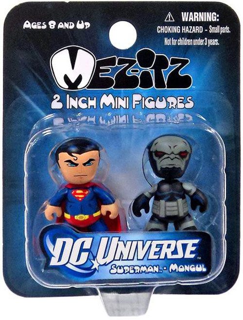 DC Mini Mez-Itz Series 1 Superman & Mongul 2-Inch Vinyl Figure 2-Pack