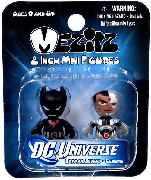 Mini Mez-Itz Series 2 Batman Beyond & Cyborg 2-Inch Vinyl Figure 2-Pack