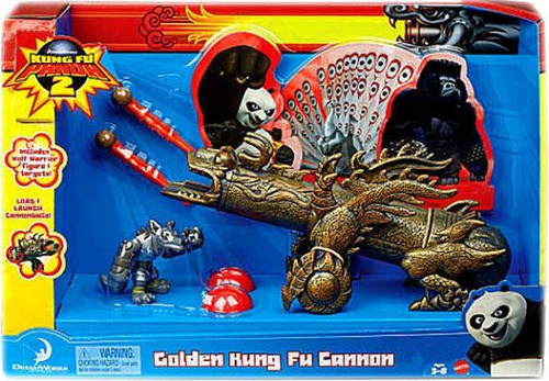 Kung Fu Panda 2 Golden Kung Fu Cannon Exclusive Playset